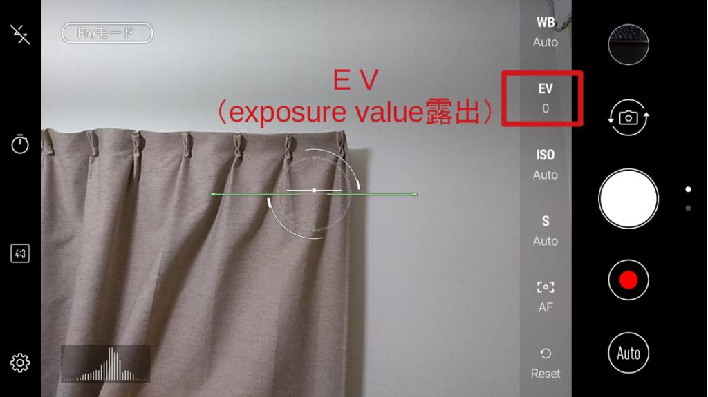 Zenforn4MaxカメラproモードEV露出