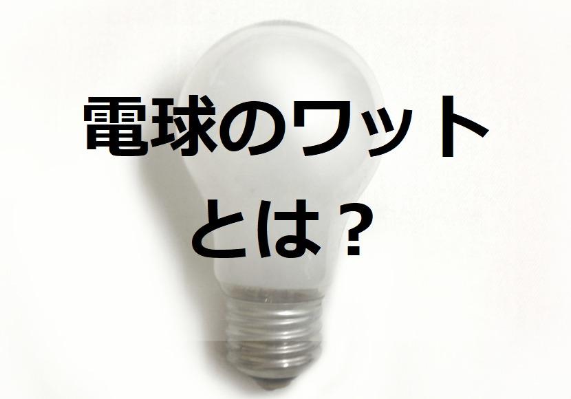 LED電球のワット数とは?