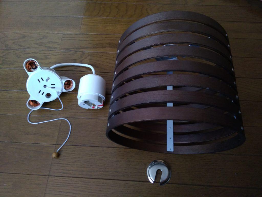 ニトリのラティスと3灯用ソケット