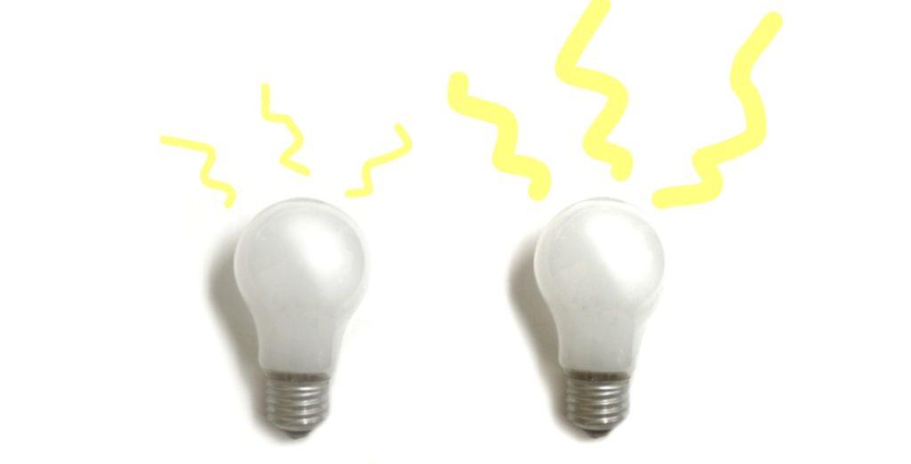 明るい電球にする