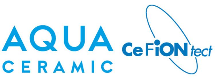 アクアセラミックとセフィオンテクトのロゴ