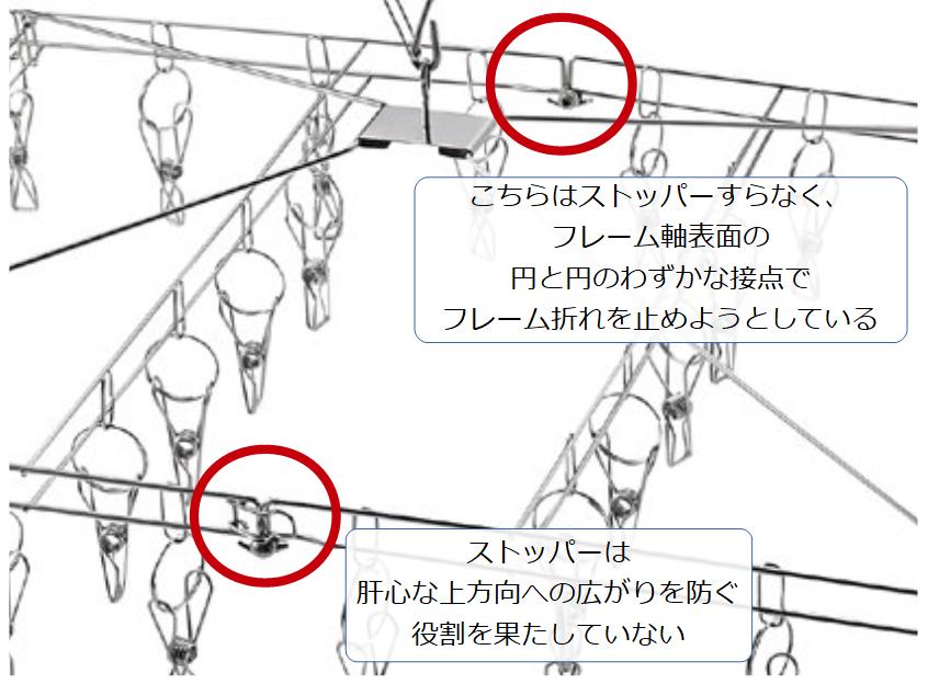 パール金属ステンレスハンガーのフレーム構造欠陥