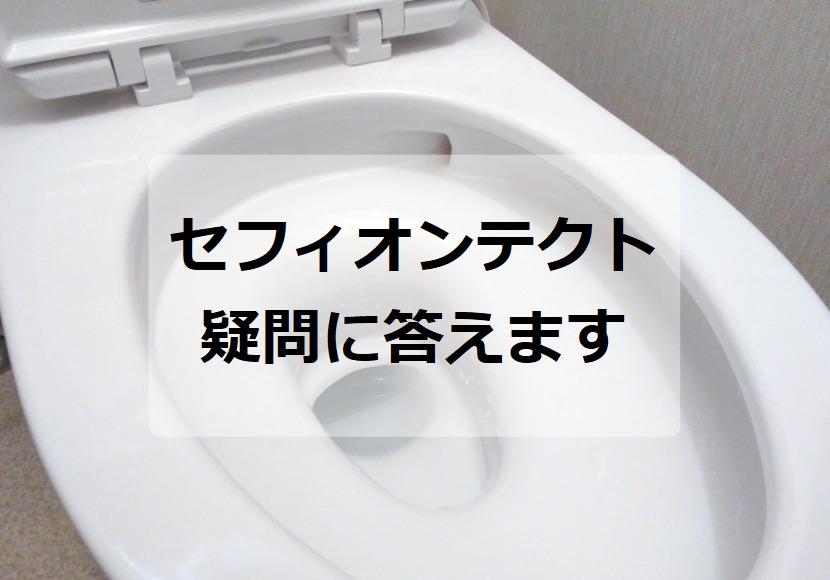 手洗い部分もセフィオンテクトか