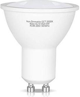 GU10で6Wの600lm電球色