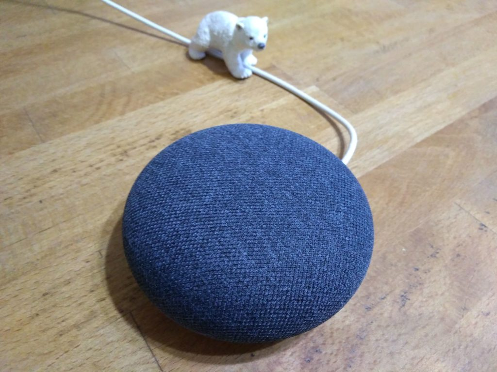 Google home miniとnest mini