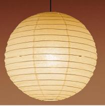 和室の和紙張り球形ちょうちん型