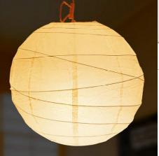 和室の和紙張り球形規則なし型