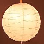 和室の和紙張り球形規則あり型