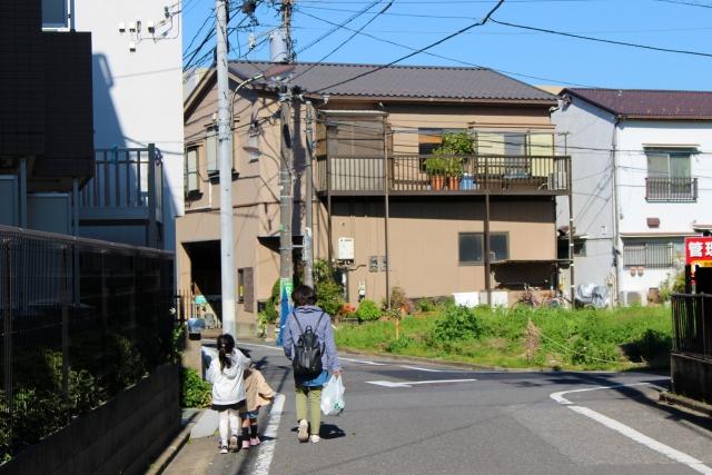 住宅地のお散歩