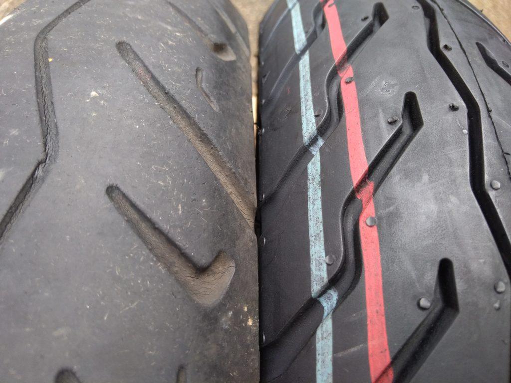 新旧のタイヤの違い
