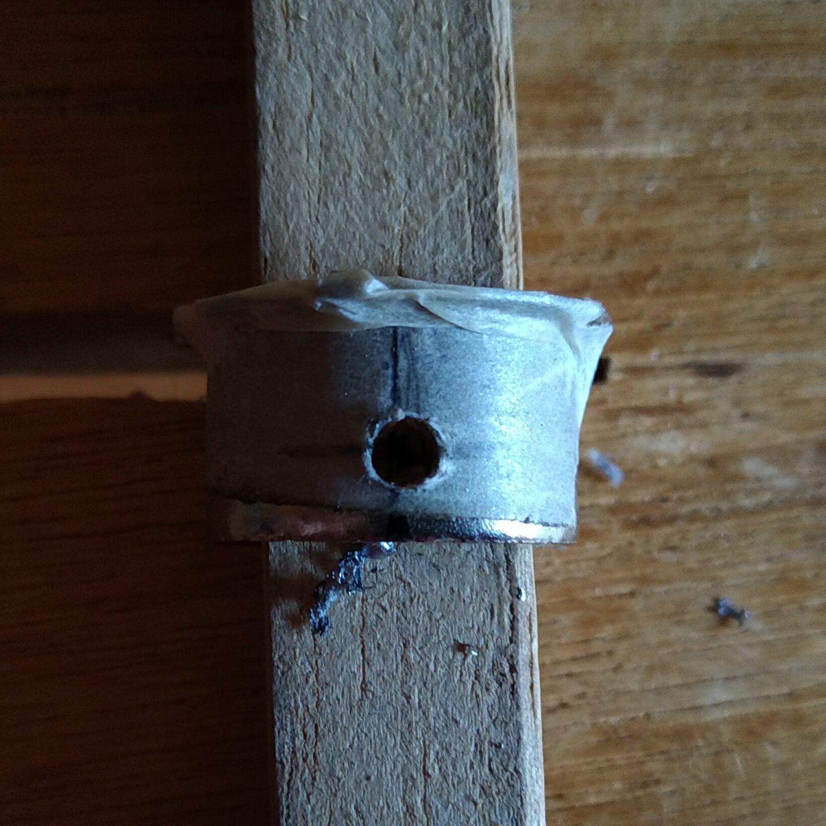 ZZ用にPH8のネジ固定穴をPH12向けに開け直す