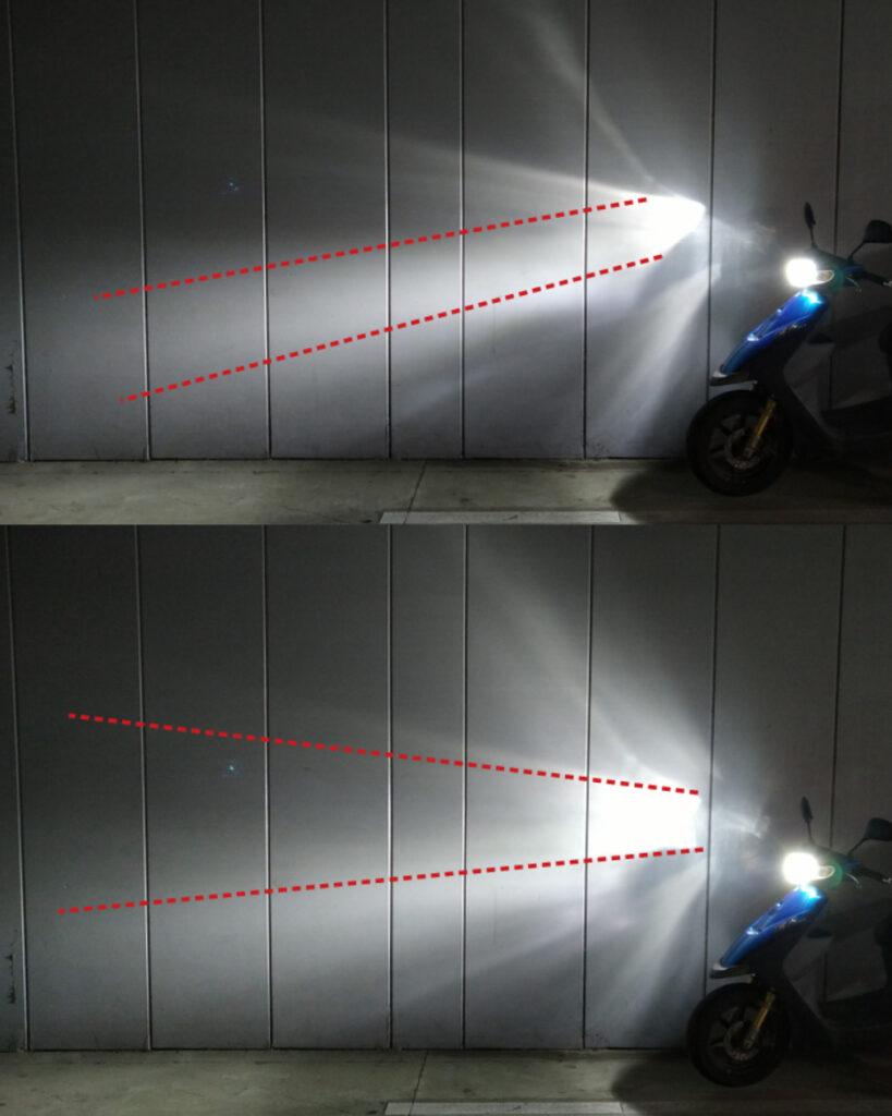 スズキZZのLEDの光軸調整